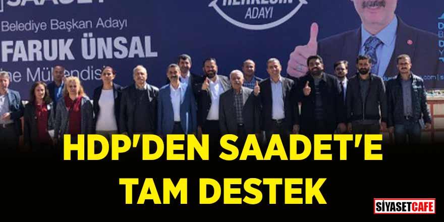 HDP'den Saadet'e tam destek