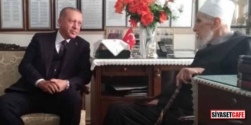 Cumhurbaşkanı Erdoğan, Elazığ'da Hafız Abdullah Nazırlı'yı ziyaret etti