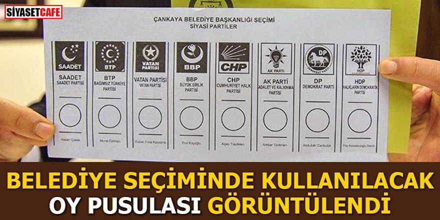 Belediye seçiminde kullanılacak oy pusulası görüntülendi