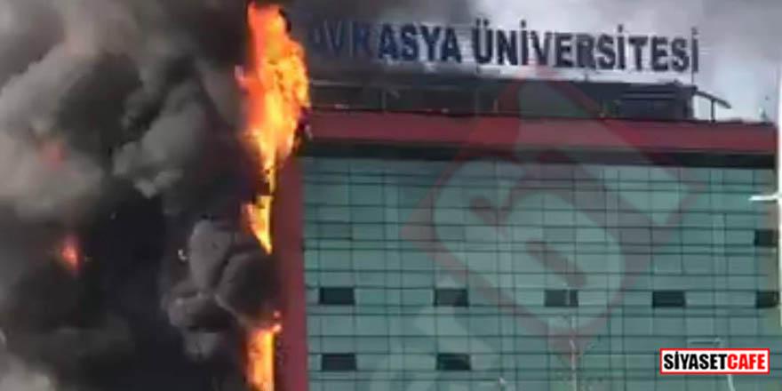 Avrasya Üniversitesi kampüsünde yangın çıktı