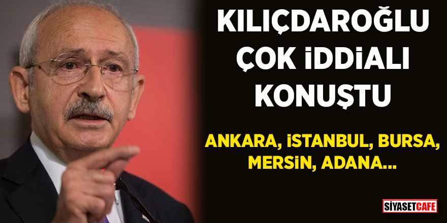 """Kılıçdaroğlu: """"Ankara ve İstanbul dahil 5 ili alacağız"""""""