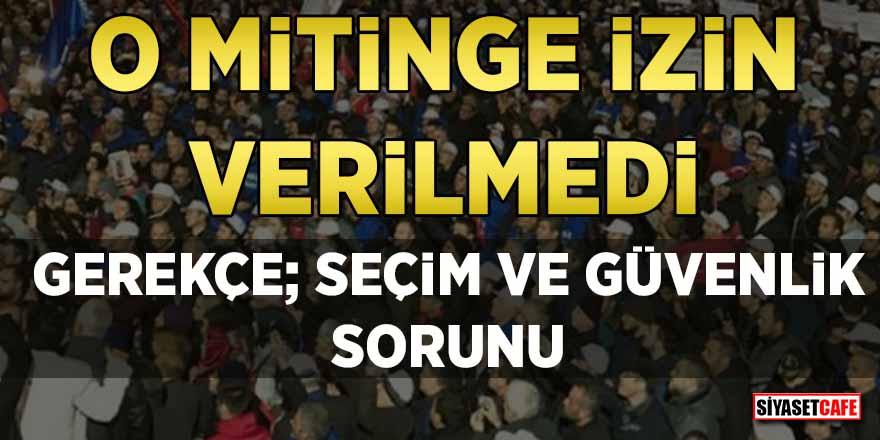 Tank palet fabrikasının özelleştirilmesine karşı Ankara'daki mitinge yasak