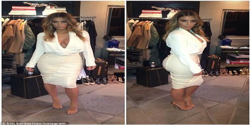 Şok olay! Kim Kardashian poposu ile kıyafetini yırttı!