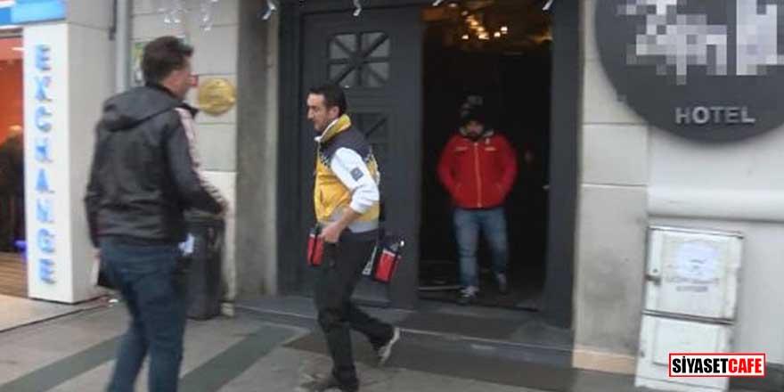 Taksim'de bulunan otelde korkunç olay! 1 ölü, 1 yaralı