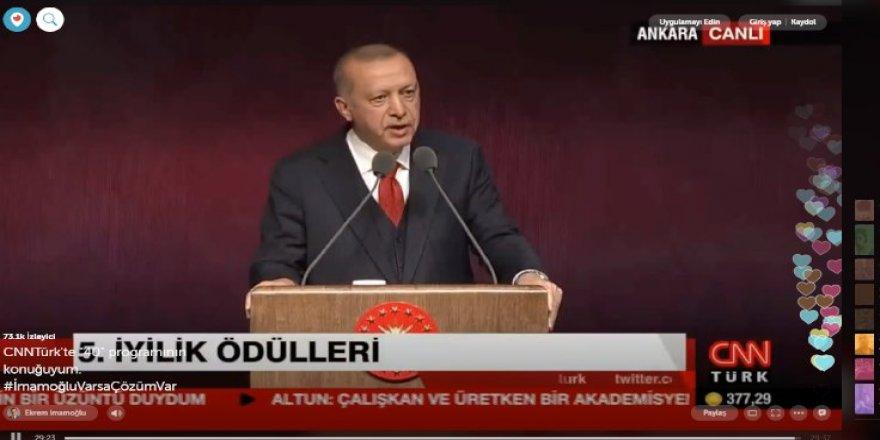 İmamoğlu'nun hesaplarından Erdoğan yayınlandı!