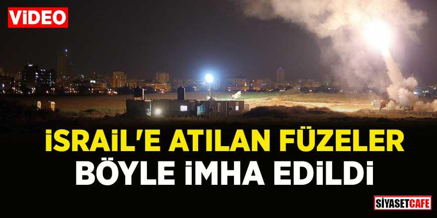 İsrail'e Gazze'den atılan füzeler böyle imha edildi