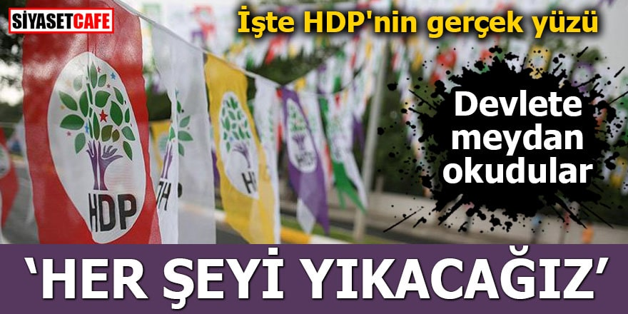 HDP'den seçim vaadi: Her şeyi yıkacağız