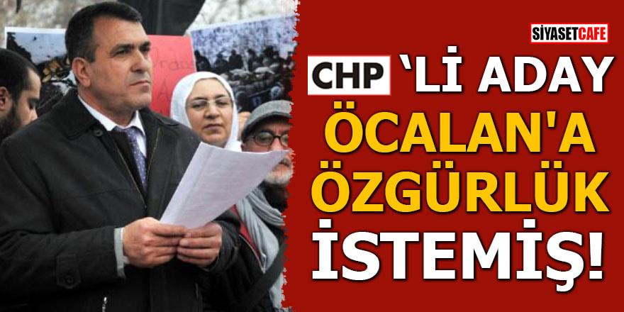 CHP'li aday 'Öcalan'a özgürlük' istemiş