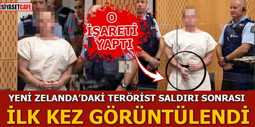 Yeni Zelanda'daki terörist saldırı sonrası mahkemede böyle görüntülendi!