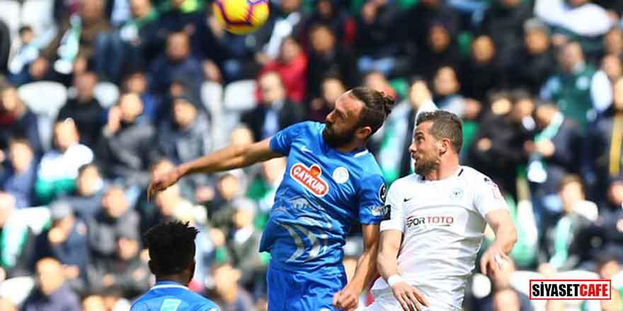 Çaykur Rizespor, 10 kişi kalan Konyaspor'u deplasmanda mağlup etti
