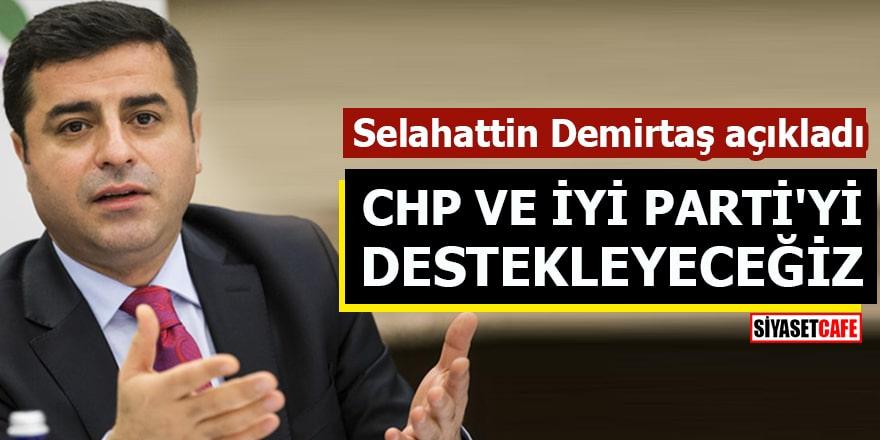 Selahattin Demirtaş: CHP ve İYİ Parti'yi destekleyeceğiz