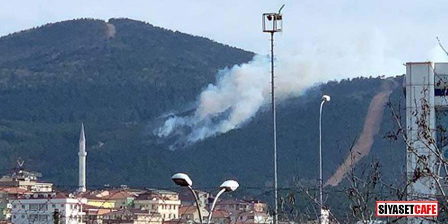Sultanbeyli'de yer alan Aydos Ormanı'nda yangın çıktı