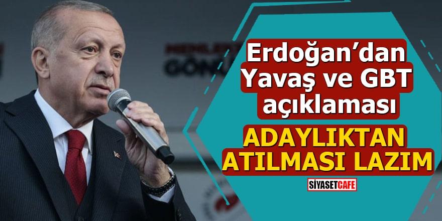 Erdoğan'dan Yavaş ve GBT açıklaması Adaylıktan atılması lazım