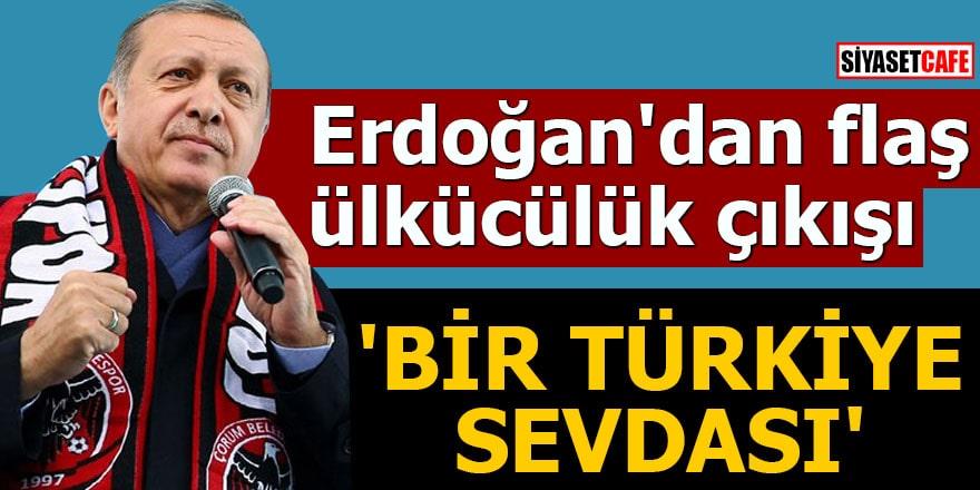 Erdoğan'dan flaş ülkücülük çıkışı 'Bir Türkiye sevdası'