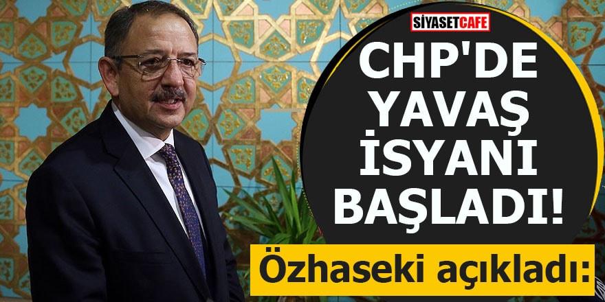 Özhaseki açıkladı: CHP'de Mansur Yavaş isyanı başladı