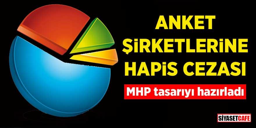 Anket şirketlerine hapis cezası! MHP tasarıyı hazırladı