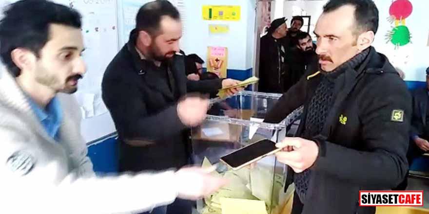Kars'ta ilginç olay! Oy kullanırken cep telefonunu seçim sandığına düşürdü