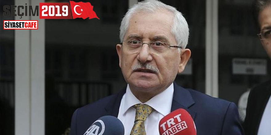 YSK Başkanı Sadi Güven: Veri kaybı yaşanmadı