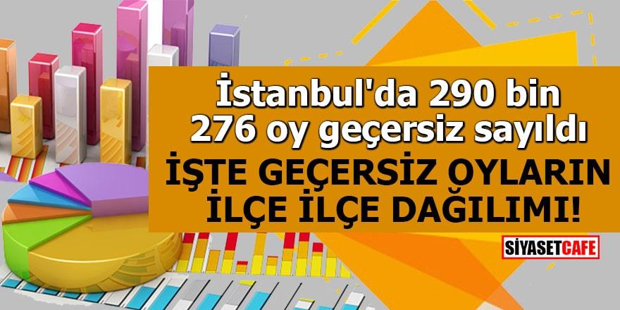 İstanbul'da 290 bin 276 oy geçersiz sayıldı İşte geçersiz oyların ilçe ilçe dağılımı!