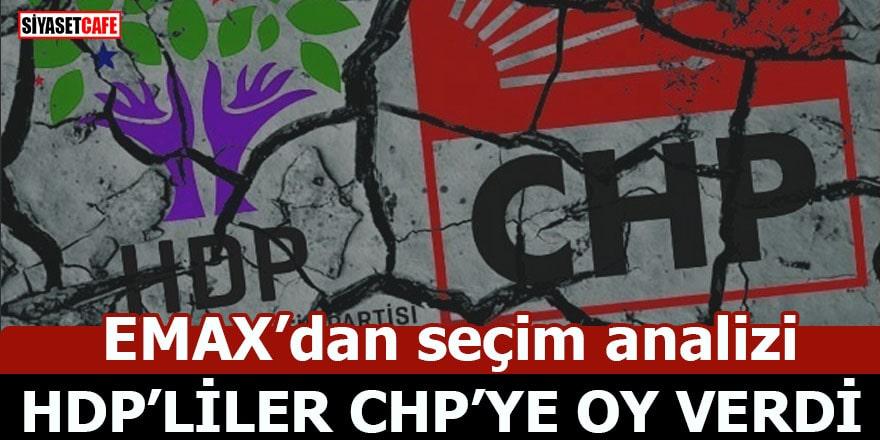EMAX'dan seçim analizi HDP'liler CHP'ye oy verdi