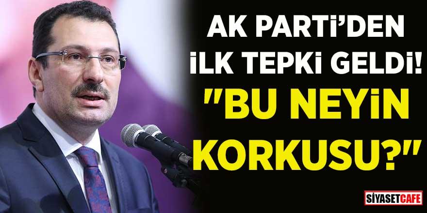 CHP'nin yeniden sayımı durdurmasının ardından AK Parti'den ilk tepki