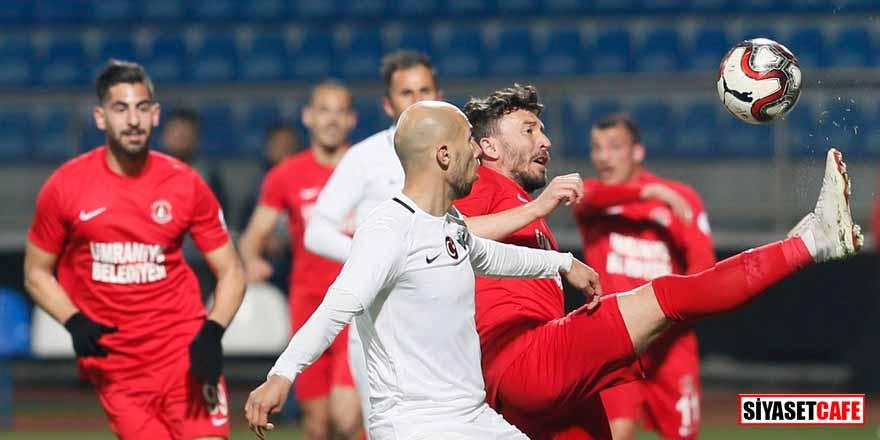 Ümraniyespor'u tek golle geçen Akhisarspor avantajı kaptı