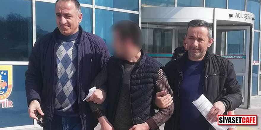Bafra'da, Açıköğretim sınavına 3 mermi ile giden kişi gözaltına alındı