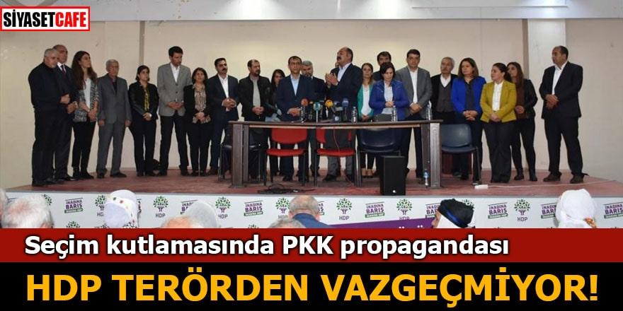 Seçim kutlamasında PKK propagandası HDP terörden vazgeçmiyor!