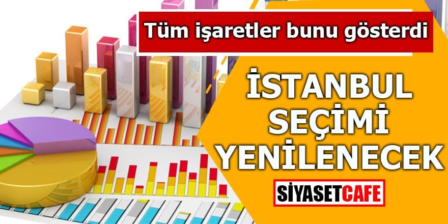 Tüm işaretler bunu gösterdi İstanbul seçimi yenilenecek!
