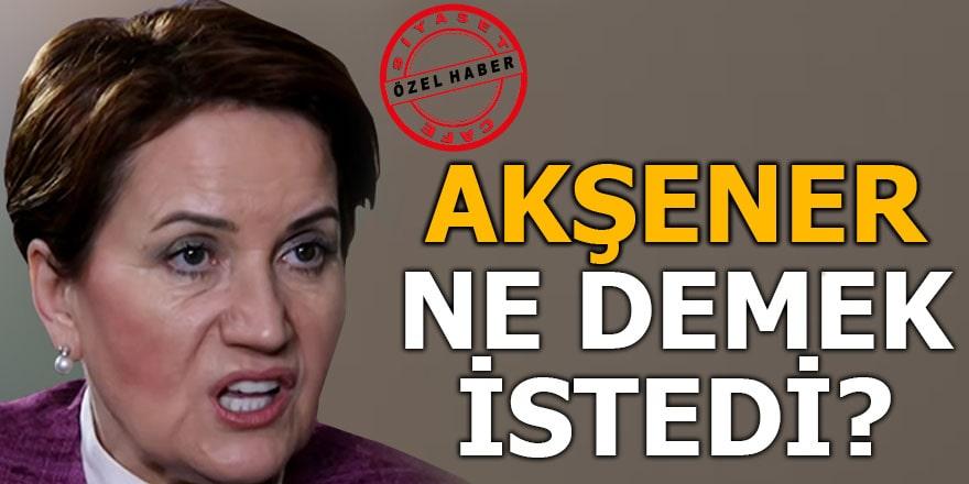 Meral Akşener '...demokrasi perdesini kapatır' sözleriyle ne demek istedi?