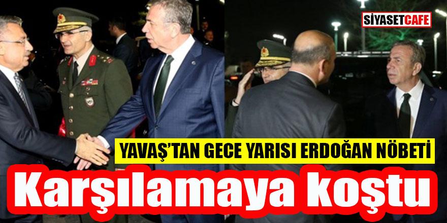 Mansur Yavaş mazbatayı aldı Erdoğan'ı karşılamaya koştu
