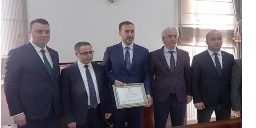 MHP'li Silivri Belediye Başkanı mazbatasını aldı
