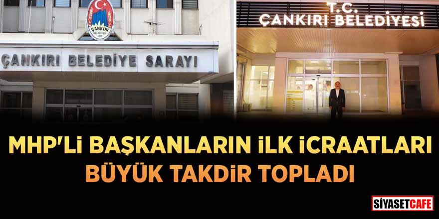 MHP'li başkanlar İsmail Hakkı Esen ve Alim Işık'tan takdir toplayan hareket