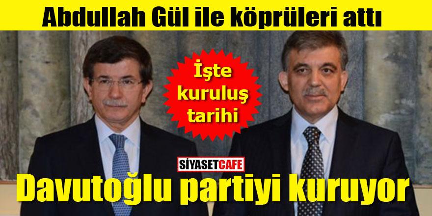 Abdullah Gül ile köprüleri attı: Davutoğlu yeni partiyi kuruyor!