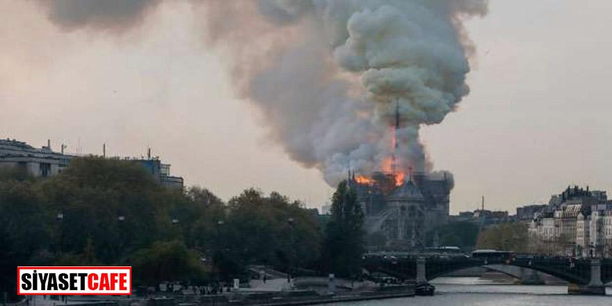 Fransa yanıyor,Notre-Dame katedralinde yangın