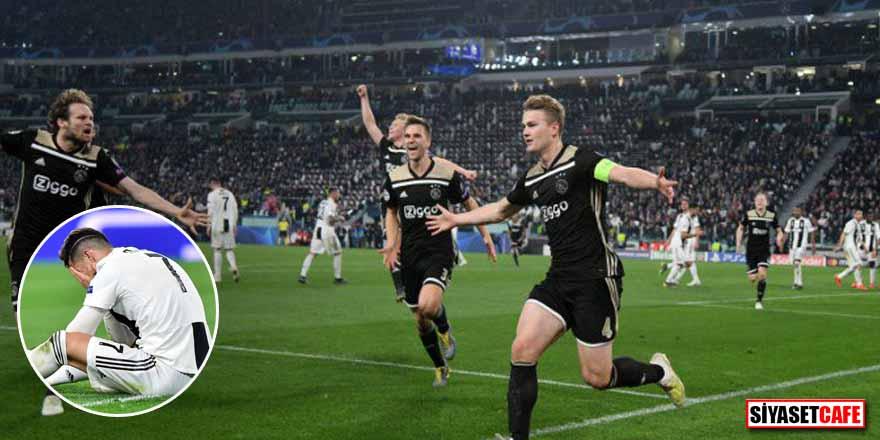 Bir önceki turda Real Madrid'i deviren Ajax'tan, Juventus'a büyük darbe