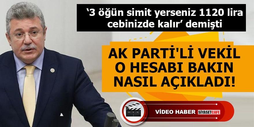 AK Parti'li vekil çay simit hesabını bakın nasıl açıkladı