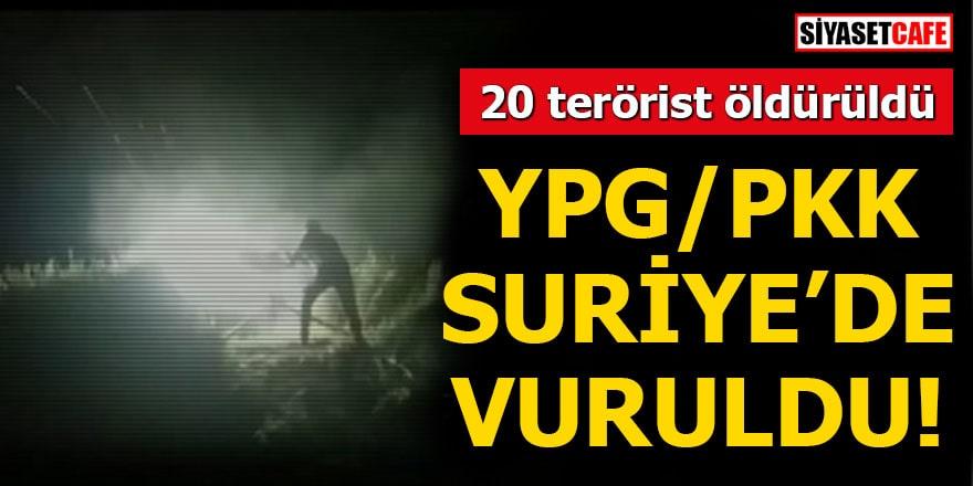 YPG/PKK Suriye'de vuruldu! 20 terörist öldürüldü