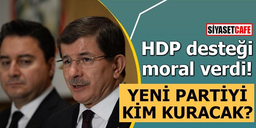HDP desteği moral verdi!Yeni partiyi kim kuracak?
