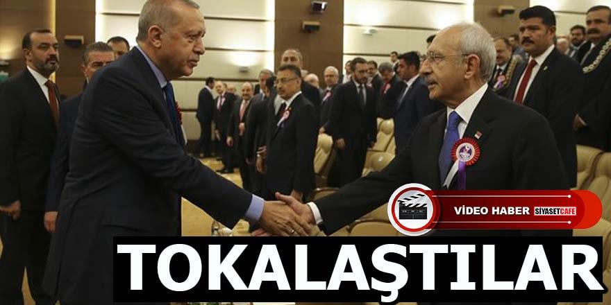 Erdoğan ve Kılıçdaroğlu AYM'nin kuruluş yıl dönümü töreninde buluştu