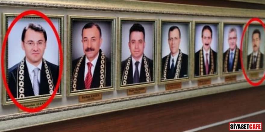 FETÖ'cü AYM üyelerinin fotoğrafları yüksek mahkeme duvarında!