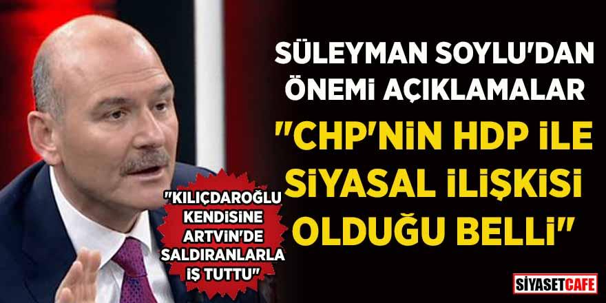 """Süleyman Soylu'ndan önemli açıklamalar: """"CHP'nin HDP ile siyasal ilişkisi olduğu belli"""""""