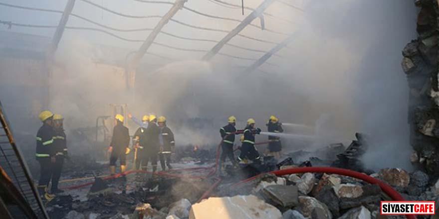 Seçim komisyonu binasında yangın çıktı