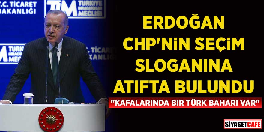 """Erdoğan, CHP'nin seçim sloganına atıfta bulundu: """"Kafalarında bir Türk baharı var"""""""