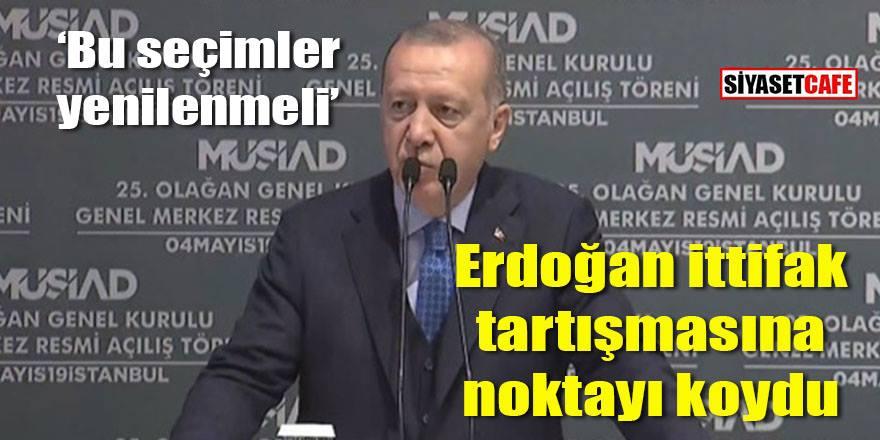 Erdoğan'dan Cumhur İttifakı açıklaması Bahçeli ile yola devam