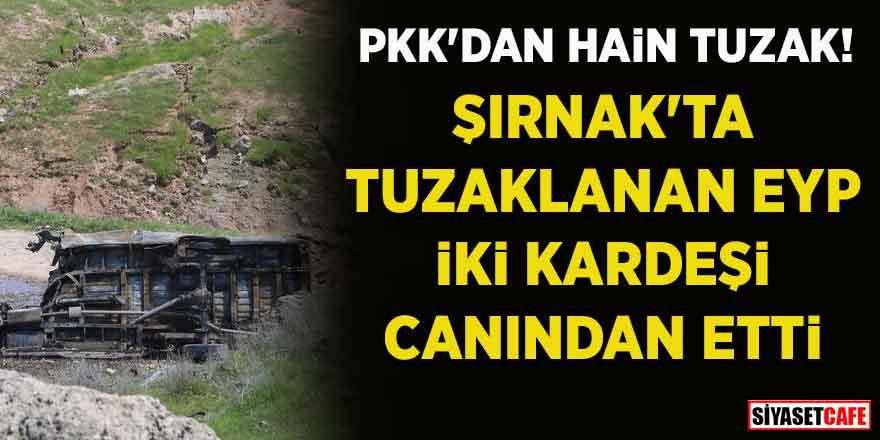PKK'dan hain tuzak! Öğrenci servisinin geçişi sırasında patlama meydana geldi