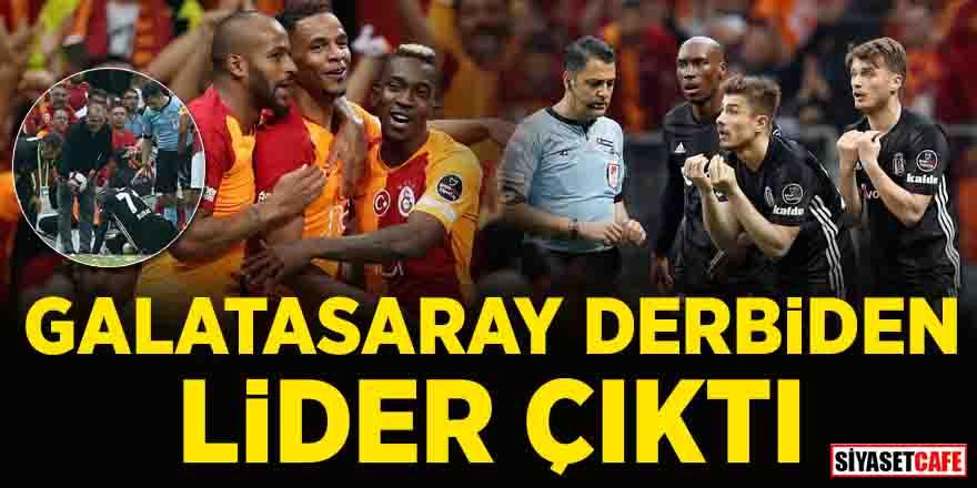 Beşiktaş'ı 2-0 mağlup eden Galatasaray liderliğe yükseldi