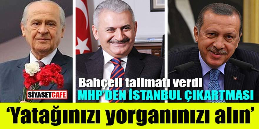 MHP'den İstanbul çıkartması: Yatağınızı, yorganınızı alın!