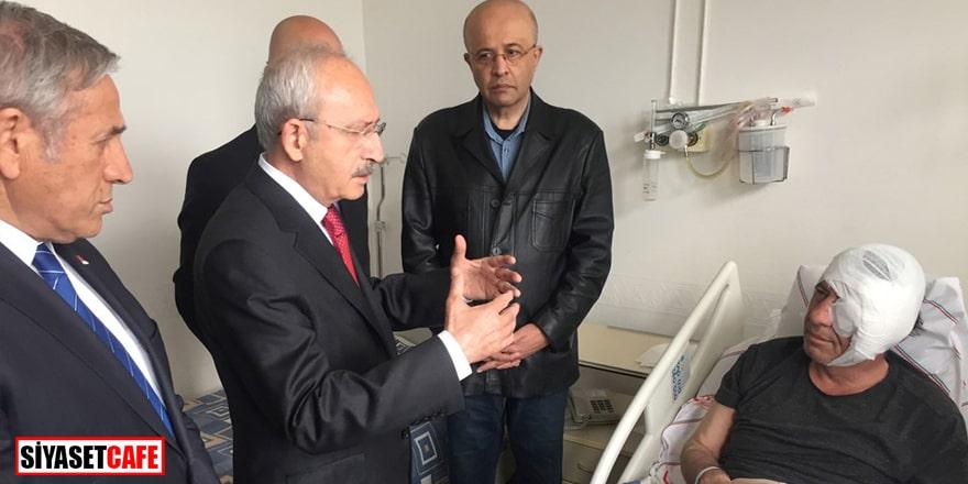 Kılıçdaroğlu darp edilen gazeteci Demirağ'ı ziyaret etti