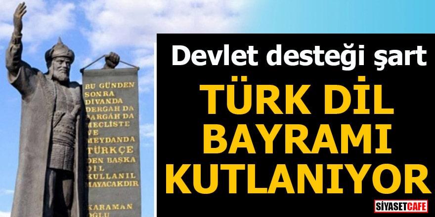 Devlet desteği şart Türk Dil Bayramı kutlanıyor